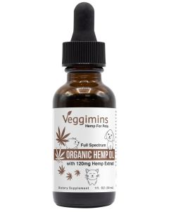 Veggimins Organic CBD Hemp Oil with Hemp Extract For Pets - 120 mg