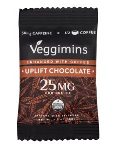 Veggimins Uplift CBD Chocolate Bar Enhanced with Coffee - 25 mg